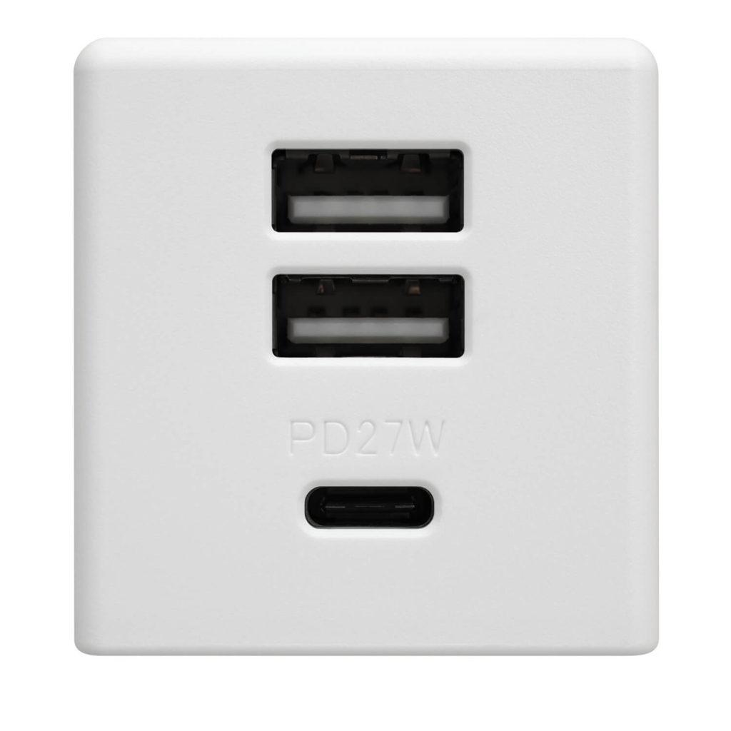 3ポート充電アダプタ01の差込口画像